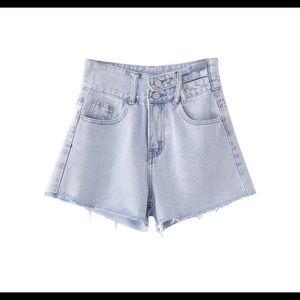 Goodnight Macaroon denim shorts